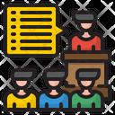 Business Speech Present Organization Icon