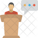 Man Lecture Speech Icon