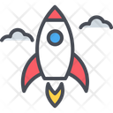 Business Startup Rocket Space Icon