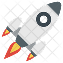 Start Up Launching Rocket Icon