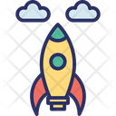 Business Startup Rocket Rocket Launch Icon