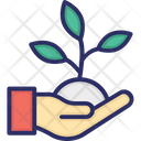 Business Startup Hand Leaf Icon