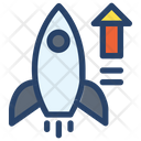 Rocket Businessman Project Icon