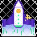 Start Up Rocket Startup Concept Spaceship Icon