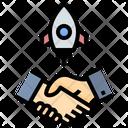 Business Startup Deal Startup Business Partner Partner Icon