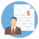 Bank Business Document Icon