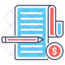 Business Statement Business Report Financial Report Icon