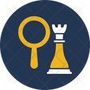Business Strategy Magnifying Market Strategy Icon