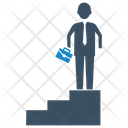 Business Success Career Stairs Icon