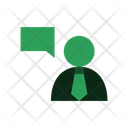 Talking Man Communication Icon