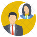 Business Talk Discussion Icon