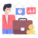 Business Communication Business Talk Business Chat Icon