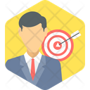 Business Target Target Achievement Dartboard Game Icon