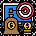Dartboard Money Bag Money Icon