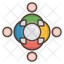 Business Team Strategy Icon