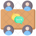 Business Team Conversation Icon