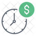 Business Time Time Is Money Dollar Efficiency Icon