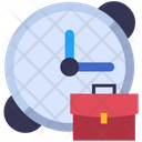 Business Time Clock Deadline Icon