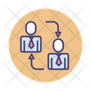 Mbb Business To Business Business Transaction Icon