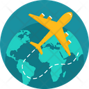 Business Tourism Airplane Icon