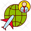 Travel Business Plane Icon