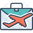 Business Travel Plane Flight Icon