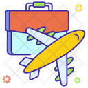 Business Travel Flight Aeroplane Icon