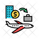 Business Trip Travel Transport Icon