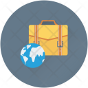 Business Trip Globe Icon