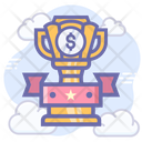 Business Medal Award Dollar Badge Icon