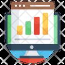 Business Website Data Chart Online Data Icon