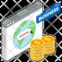 Business Website Corporate Web Trade Website Icon