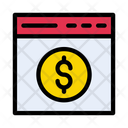 Webpage Browser Pay Icon
