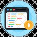 Web Content Business Website Ethereum Content Icon