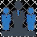 Business Leader Podium Icon