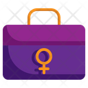 Business Woman Briefcase Bag Icon