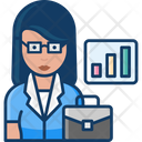 Business Woman Business Lady Woman Icon