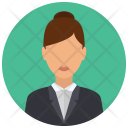 Business Woman Formal Icon