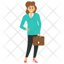 Business Woman Entrepreneur Capitalist Icon