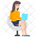 Businesswoman Businessperson Office Employee Icon