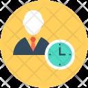 Businessman Entrepreneurship Time Icon