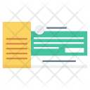 Businessman Cheque Payment Icon
