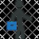Businessman Business Briefcase Icon