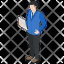 Male Employee Office Worker Businessman Icon