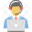 Businessman Communication Conference Icon