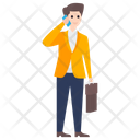 Businessman Mobile Call Business Talk Icon