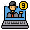 Laptop Businessman Manager Icon
