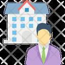 Businessman Entrepreneur Factory Owner Icon