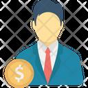 Businessman Businessperson Dealer Icon