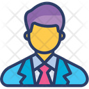 Businessman Consultant Manager Icon